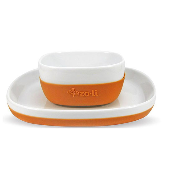 Zoli Inc. NOSH Ceramic Bowl & Plate Set Orange