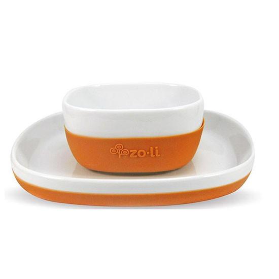 Zoli Inc. NOSH Ceramic Bowl & Plate Set Orange