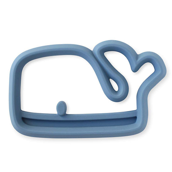 Itzy Ritzy Silicone Baby Teether - Blue Whale