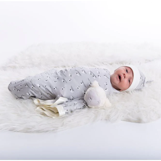 Magnificent Baby Magnetic Me Sheeps Meadow Sack Gown and Hat Set Lifestyle