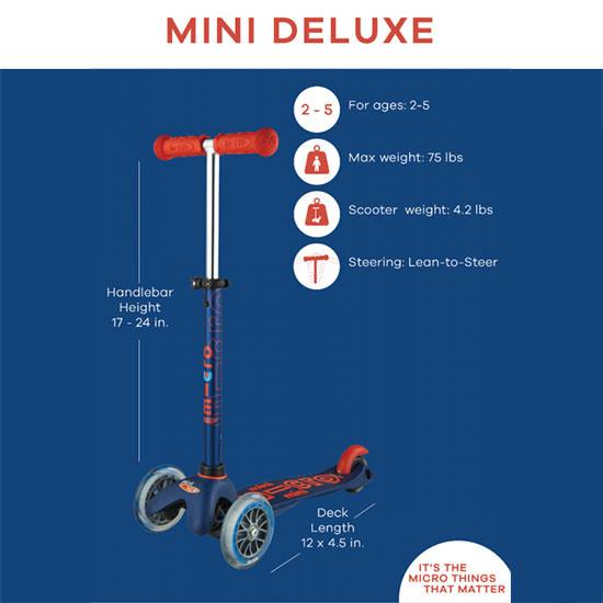 Micro Scooter Mini Deluxe Specs