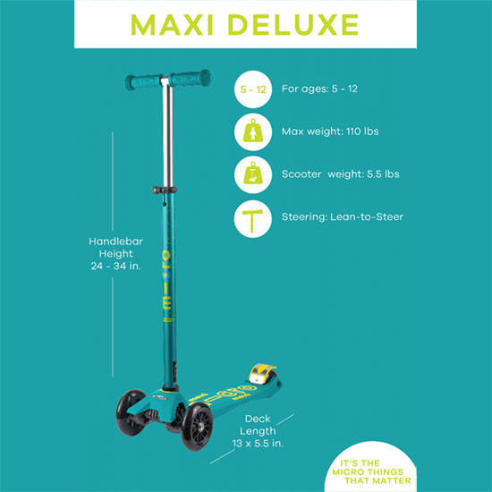 Micro Scooter Maxi Deluxe Features