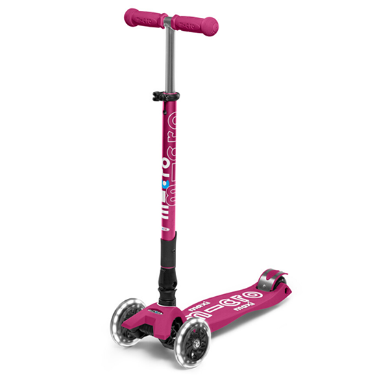 Micro Kickboard Maxi Deluxe Foldable LED Scooter