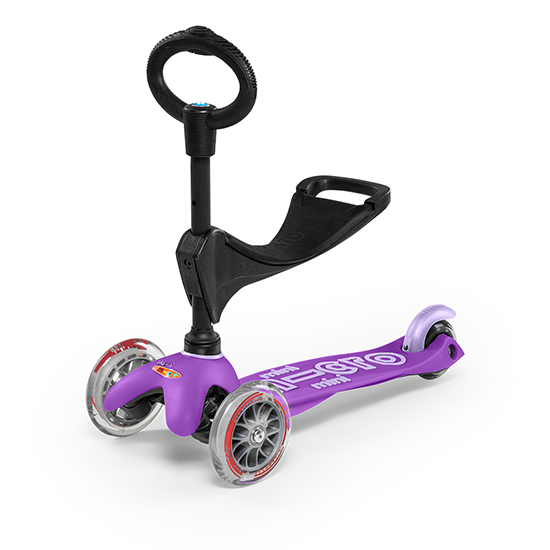 Micro Kickboard Mini 3in1 Deluxe Scooter Purple
