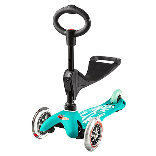 Micro Kickboard Mini 3in1 Deluxe Scooter Aqua