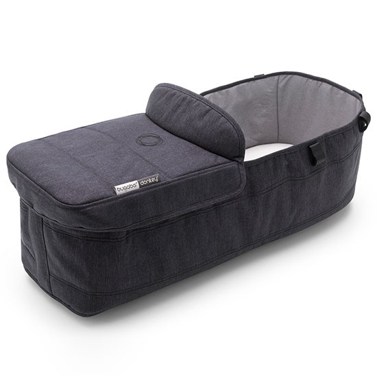 Doneky3 Bassinet Complete Fabric Set - Black/Mineral Washed Black