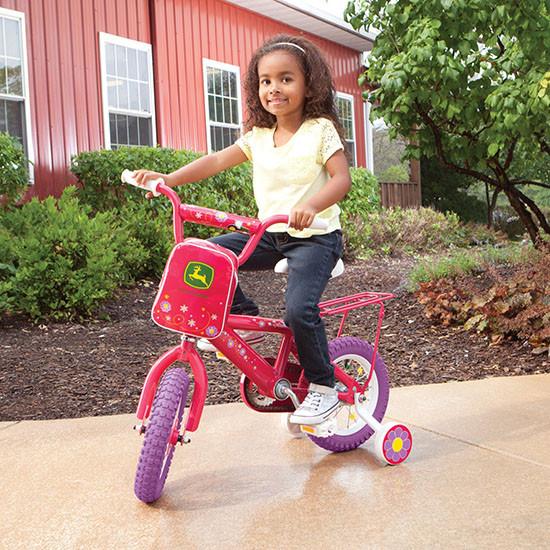 Tomy International John Deere 12-inch Girl's Bicycle Outdoors