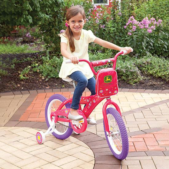 Tomy International John Deere 16-inch Girl's Bicycle Outdoors