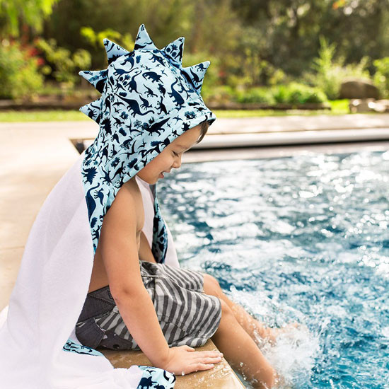 Bebe Au Lait Hooded Towel Dinomite - Blue-2