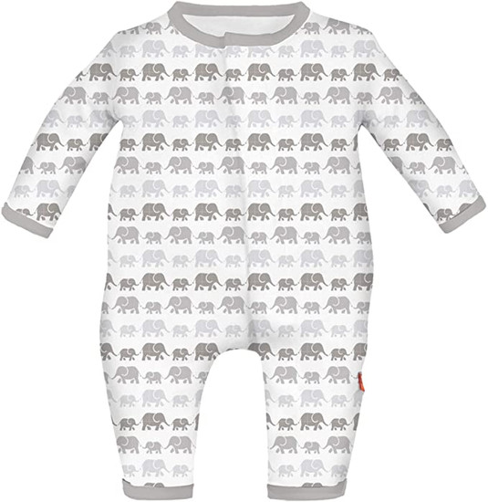Magnificent Baby Magnetic Me Grey Elephant Coverall