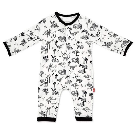 Magnificent Baby Magnetic Me Animal Safari Coverall