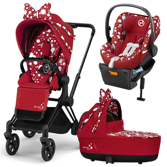 Cybex Priam 3 Stroller with Cloud Q and Cot - Jeremy Scott Petticoat