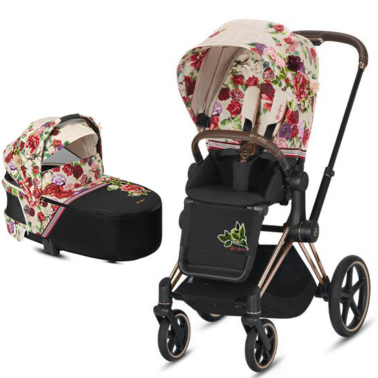 Cybex PRIAM 3 Stroller with Cot - Spring Blossom