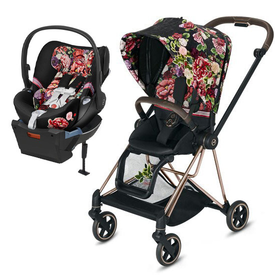 Cybex MIOS 2 Stroller with Cloud Q - Spring Blossom