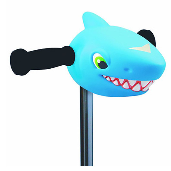 Micro Kickboard Scooter Heads - Blue Shark Surfing Sammy