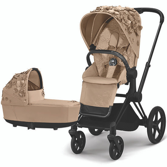 Cybex PRIAM 3 Stroller with Cot - Simply Flowers