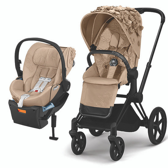 Cybex PRIAM 3 Stroller with Cloud Q - Simply Flowers