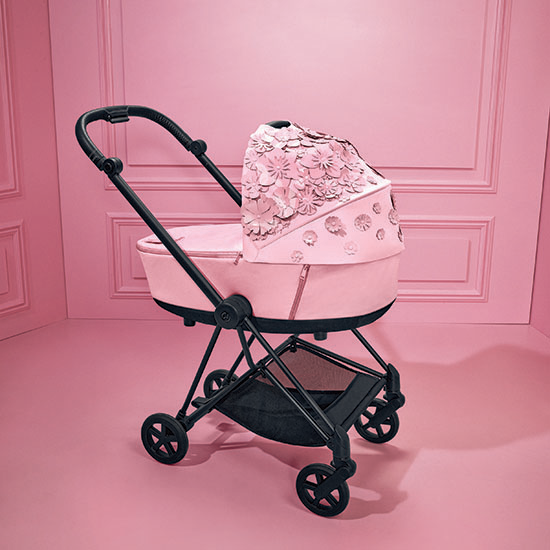 Cybex PRIAM 3 Stroller with Cloud Q and Cot - Simply Flowers