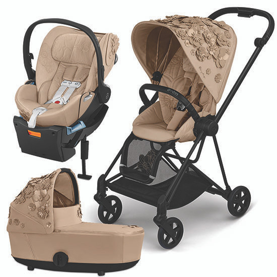 Cybex MIOS 2 Stroller with Cloud Q and Cot - Simply Flowers