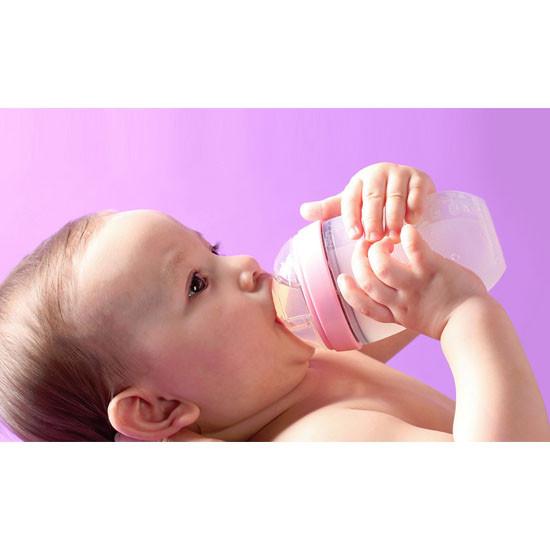 Comotomo Natural Feel Baby Bottle 5 oz - 2 pack - Pink-4