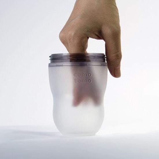 Comotomo Natural Feel Baby Bottle 5 oz - 2 pack - Pink-3