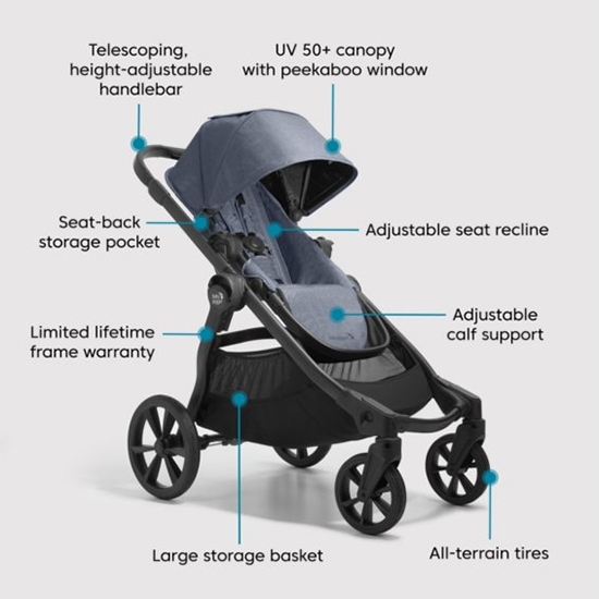 Baby Jogger City Select 2 Stroller Features