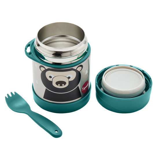 3 Sprouts Stainless Steel Food Jar