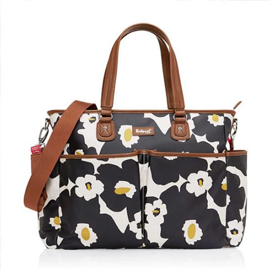 Babymel Bella Diaper Bag - Black Floral