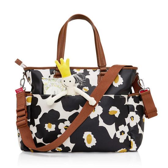 Babymel Bella Diaper Bag - Black Floral-3
