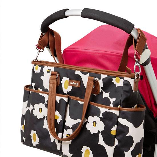 Babymel Bella Diaper Bag - Black Floral-5
