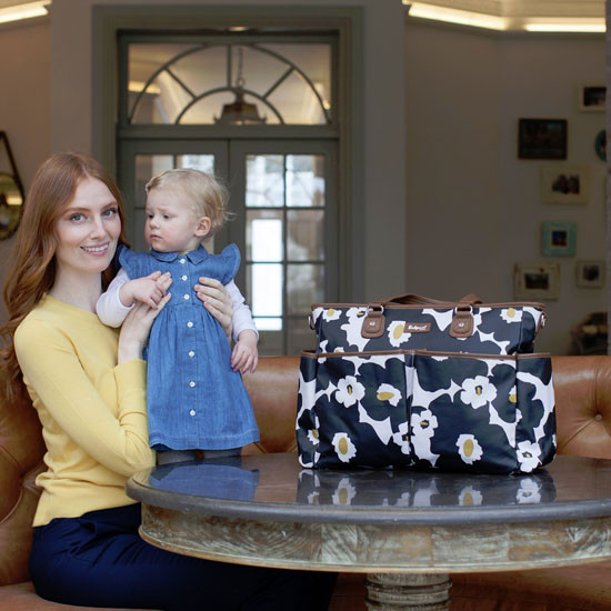Babymel Bella Diaper Bag - Black Floral-6