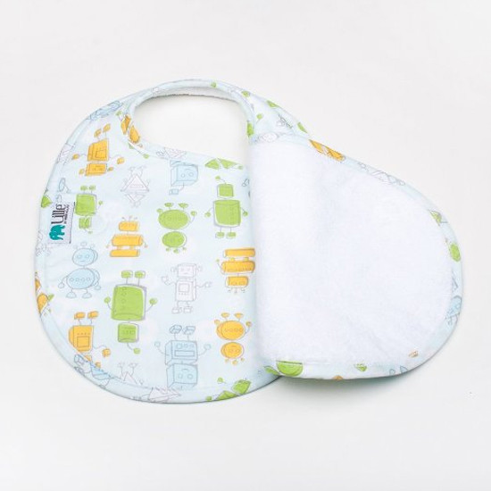 Bebe Au Lait Lille Collection Quadruple Bib - Robots-2