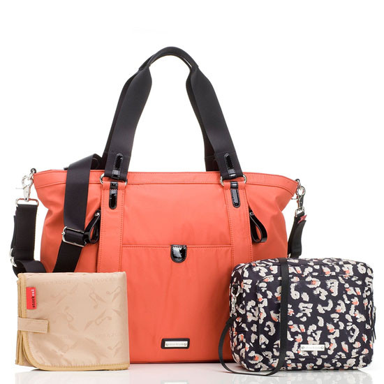 Storksak Cleo - Papaya + Mini Fix Changing Bag-2