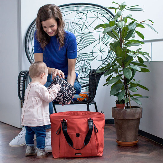 Storksak Cleo - Papaya + Mini Fix Changing Bag-6