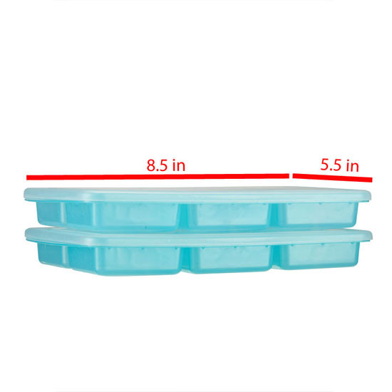 Innobaby Preppin' SMART EZ Jumbo Pop Freezer Tray - 2 Pack with Lid-2