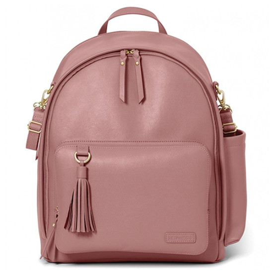 Skip Hop Greenwich Simply Chic Diaper Backpack - Dusty Rose