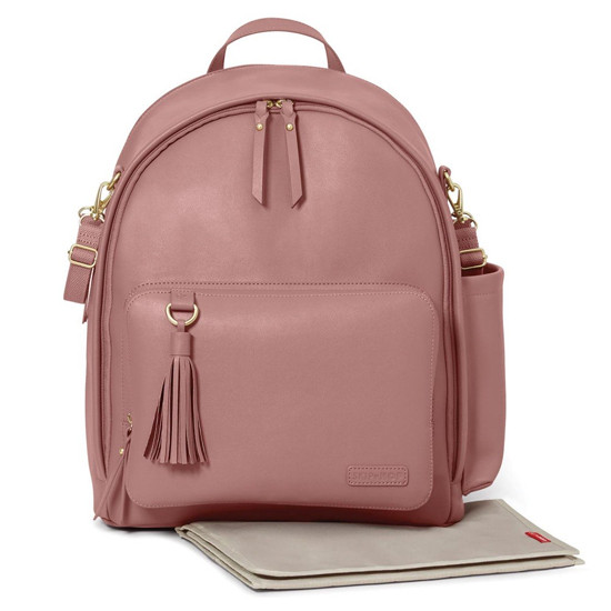 Skip Hop Greenwich Simply Chic Diaper Backpack - Dusty Rose-2