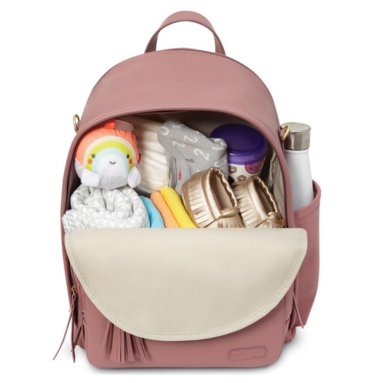 Skip Hop Greenwich Simply Chic Diaper Backpack - Dusty Rose-3