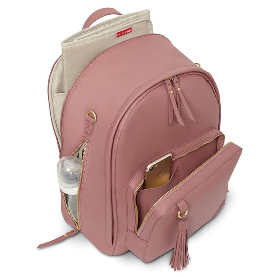 Skip Hop Greenwich Simply Chic Diaper Backpack - Dusty Rose-4