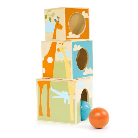Skip Hop Giraffe Safari Nest & Play Blocks-2