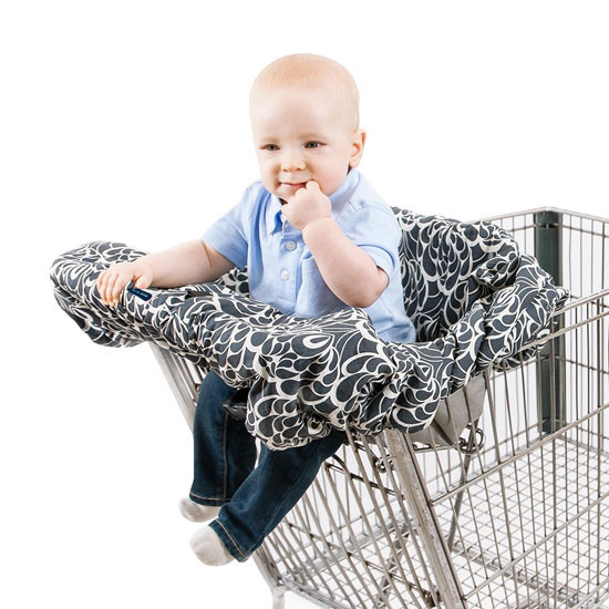 Bebe Au Lait Premium Cotton Shopping Cart Cover - Tribeca -3