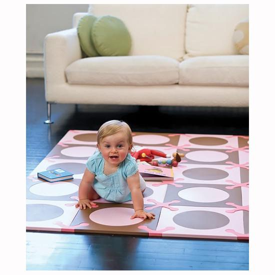 Skip Hop Playspot - Interlocking Foam Tiles - Pink/Brown -3