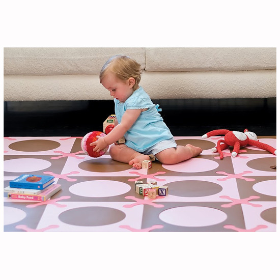 Skip Hop Playspot - Interlocking Foam Tiles - Pink/Brown -4