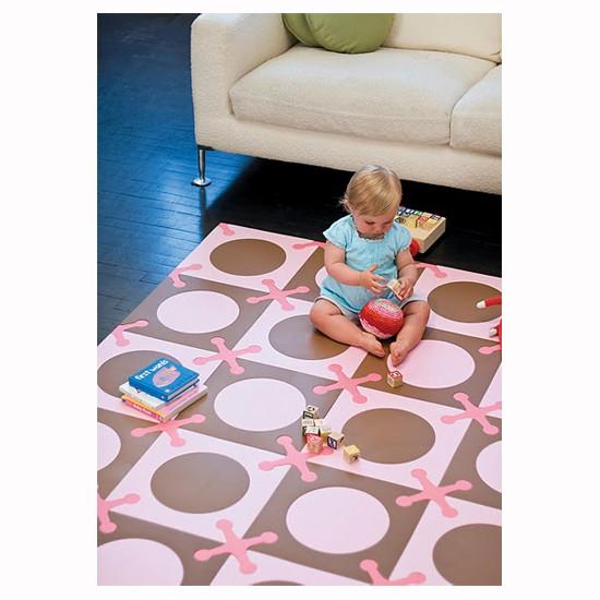 Skip Hop Playspot - Interlocking Foam Tiles - Pink/Brown -5