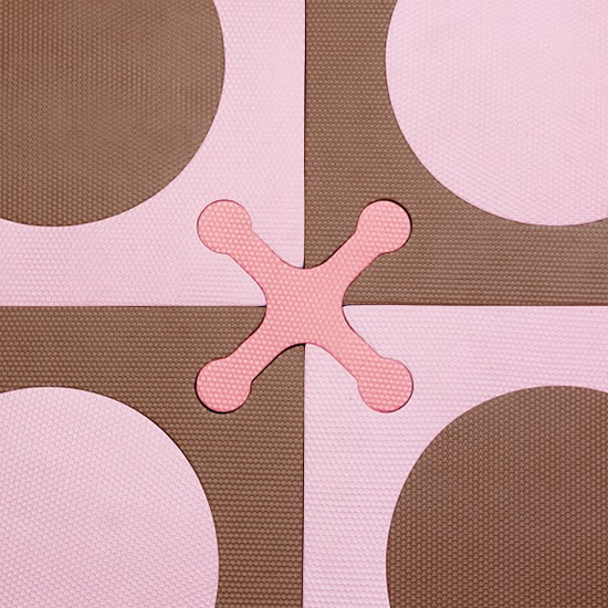 Skip Hop Playspot - Interlocking Foam Tiles - Pink/Brown -6