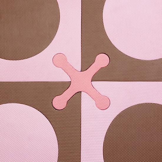 Skip Hop Playspot - Interlocking Foam Tiles - Pink/Brown -6