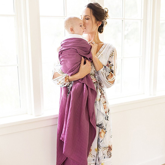 Bebe Au Lait Oh-So-Soft Luxury Muslin Swaddle Blankets - Popsicles + Cherry-4