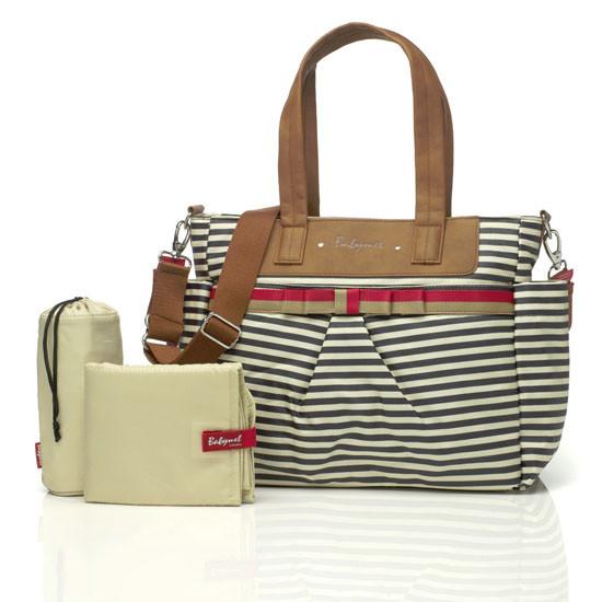 Babymel Cara Diaper Bag - Navy Stripe-2