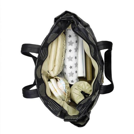 Babymel Cara Diaper Bag - Navy Stripe-3