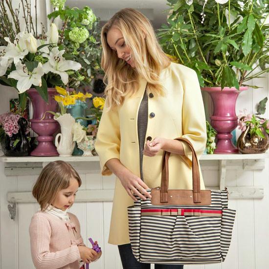 Babymel Cara Diaper Bag - Navy Stripe-4